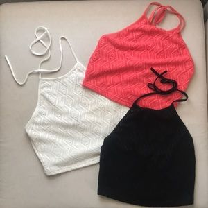 Set of 3 Cropped Tops